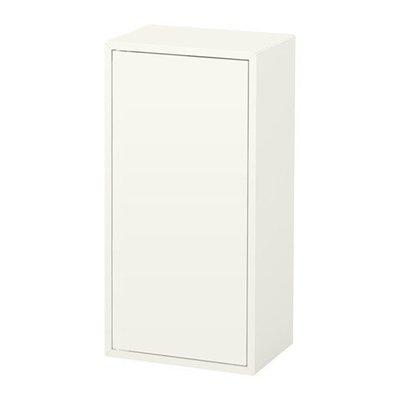 ЭКЕТ Шкаф с дверцей и 2 полками - белый