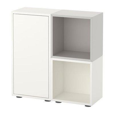 ЭКЕТ Комбинация шкафов с ножками - белый/серый
