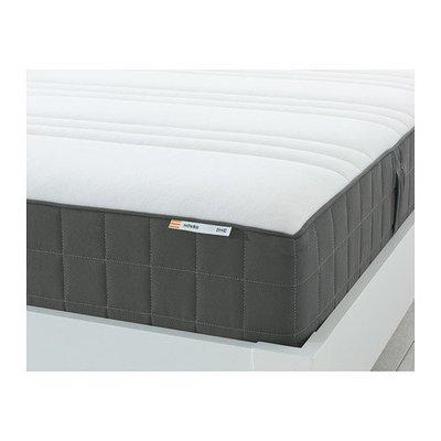 ХОВОГ Матрас с пружинами карманного типа - 90x200 см, жесткий/темно-серый