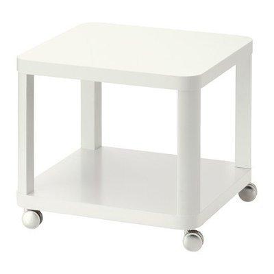 ТИНГБИ Стол приставной на колесиках - белый