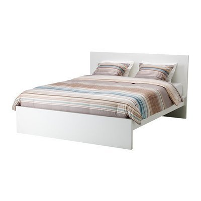 МАЛЬМ Каркас кровати, высокий - 160x200 см, -, белый