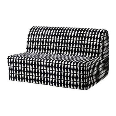 ЛИКСЕЛЕ ХОВЕТ 2-местный диван-кровать - Эббарп черный/белый