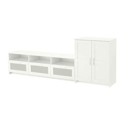 БРИМНЭС Шкаф для ТВ, комбинация - белый