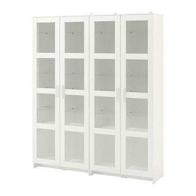 БРИМНЭС Комбинация д/хранения+стекл дверц - белый