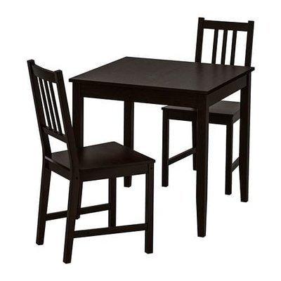 ЛЕРХАМН / СТЕФАН Стол и 2 стула