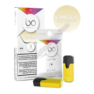 BO Vaping - BO Cap Pod System - Vanilla Ice Cream - High