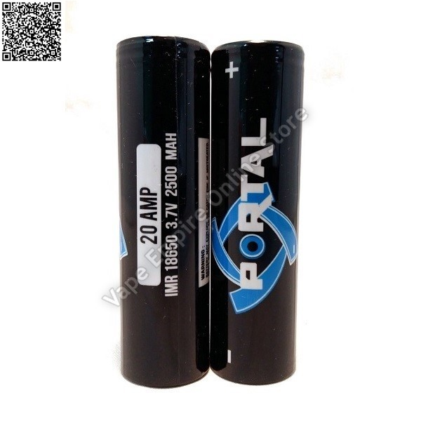 Portal 2500mAh 18650 Battery - 20Amp (buy 2 get free battery case)