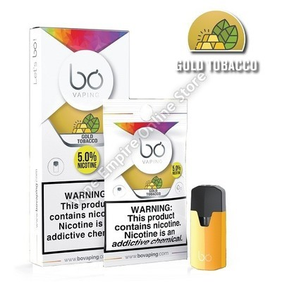 BO Vaping - BO Cap Pod System - Gold Tobacco - High