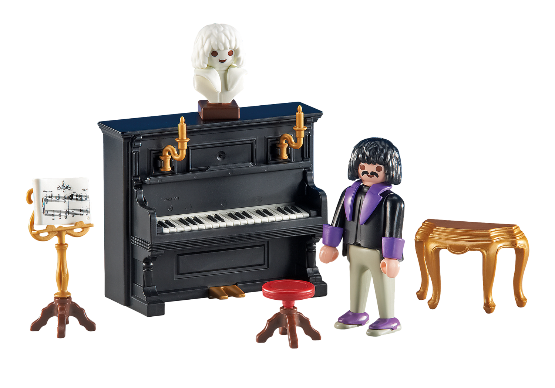 6527 Pianist with Piano 鋼琴加與鋼琴