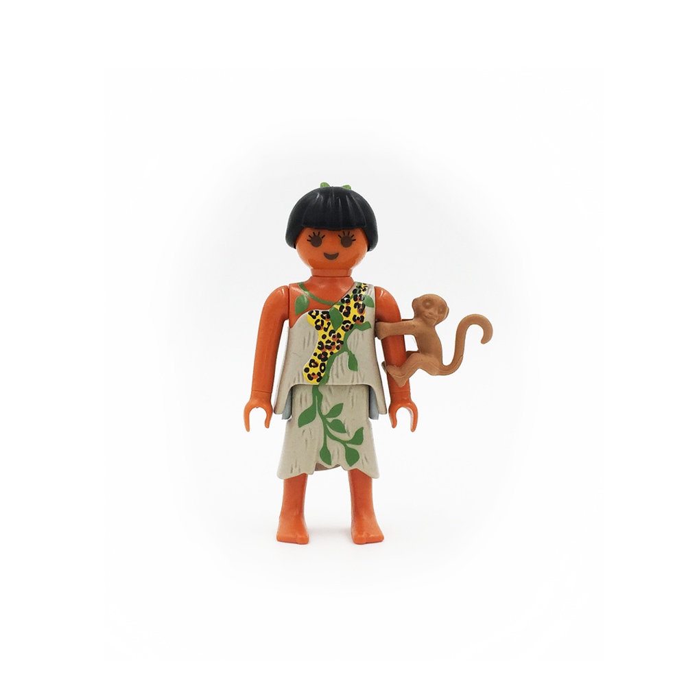 5158 Stone Age Woman with Monkey