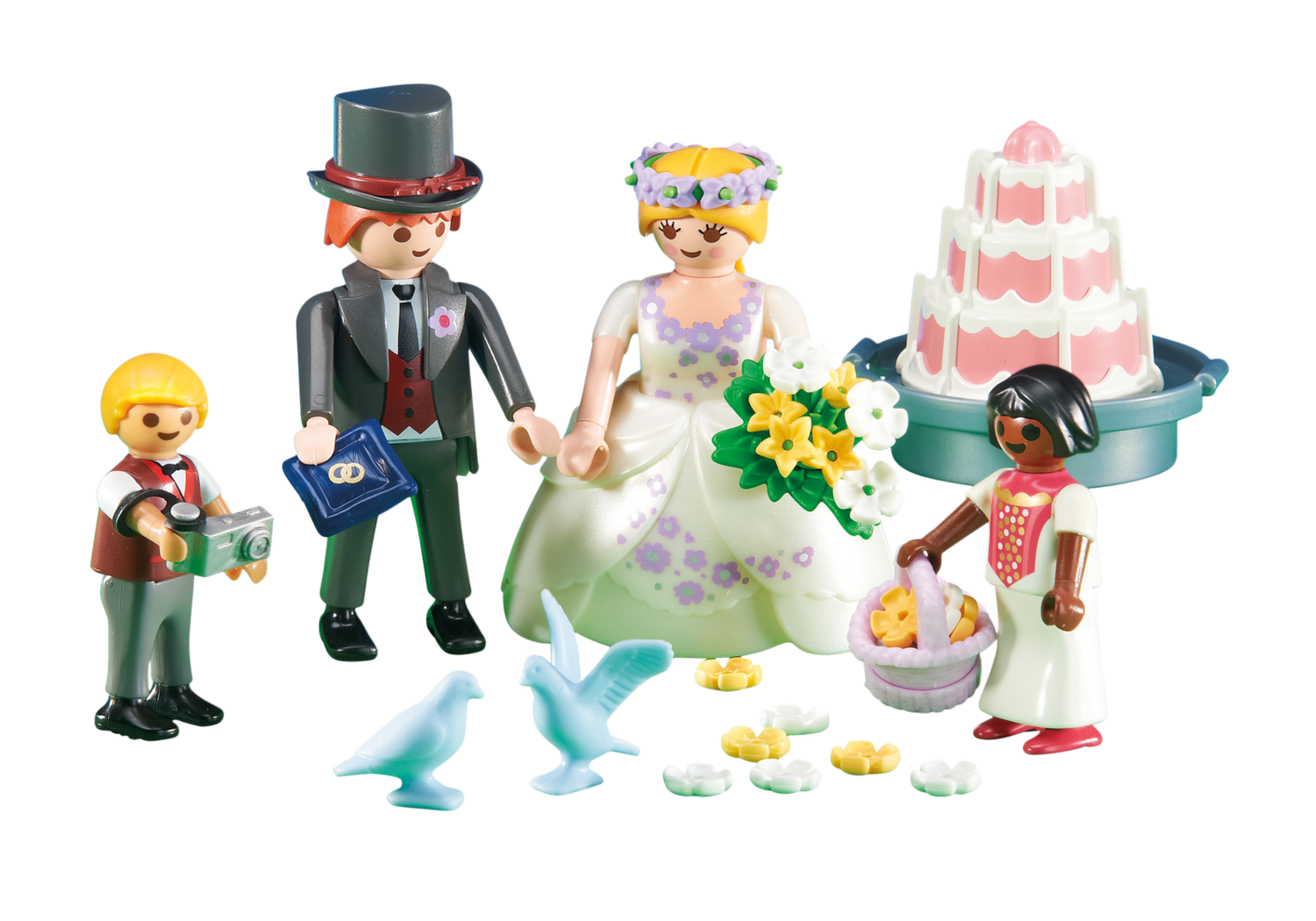 6459 Bridal Couple with Children