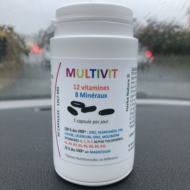 Multivit: pot de 50 Capsules 1267 mg