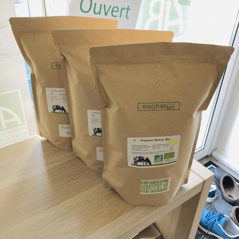 Trio de Protéines de Lait Native Bio (vanille, cacao,fraise)