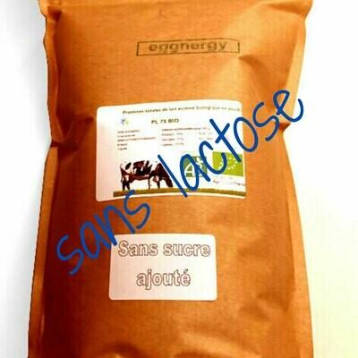 Par 1 kg  Protéine Lait Native bio sans lactose (Nature ou extension bio)