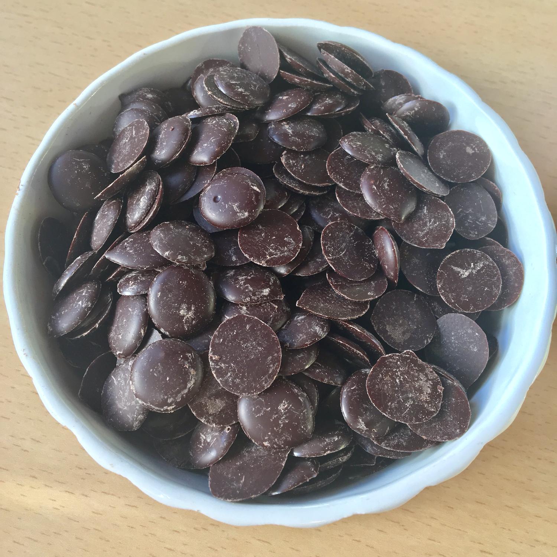 Petits boutons de chocolat bio 50% en 250 g
