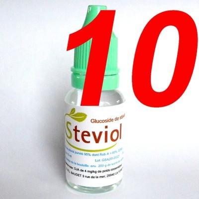 Extrait de stévia liquide 15 ml (par 10 flacons)