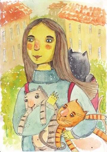 """Открытка """"Cat Stories"""""""