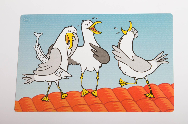 """Открытка """"Веселые чайки"""""""