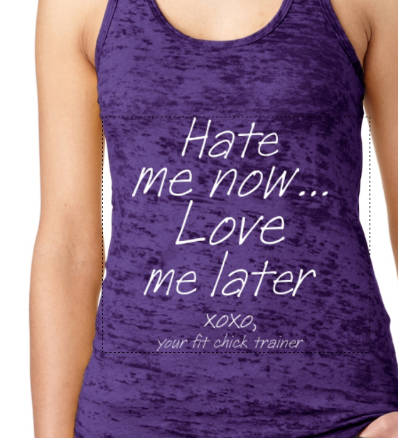 Hate me now...Love me later TRAINER tank