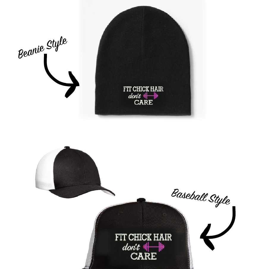 NEW!! Fit Chick Hair Don't Care Hats