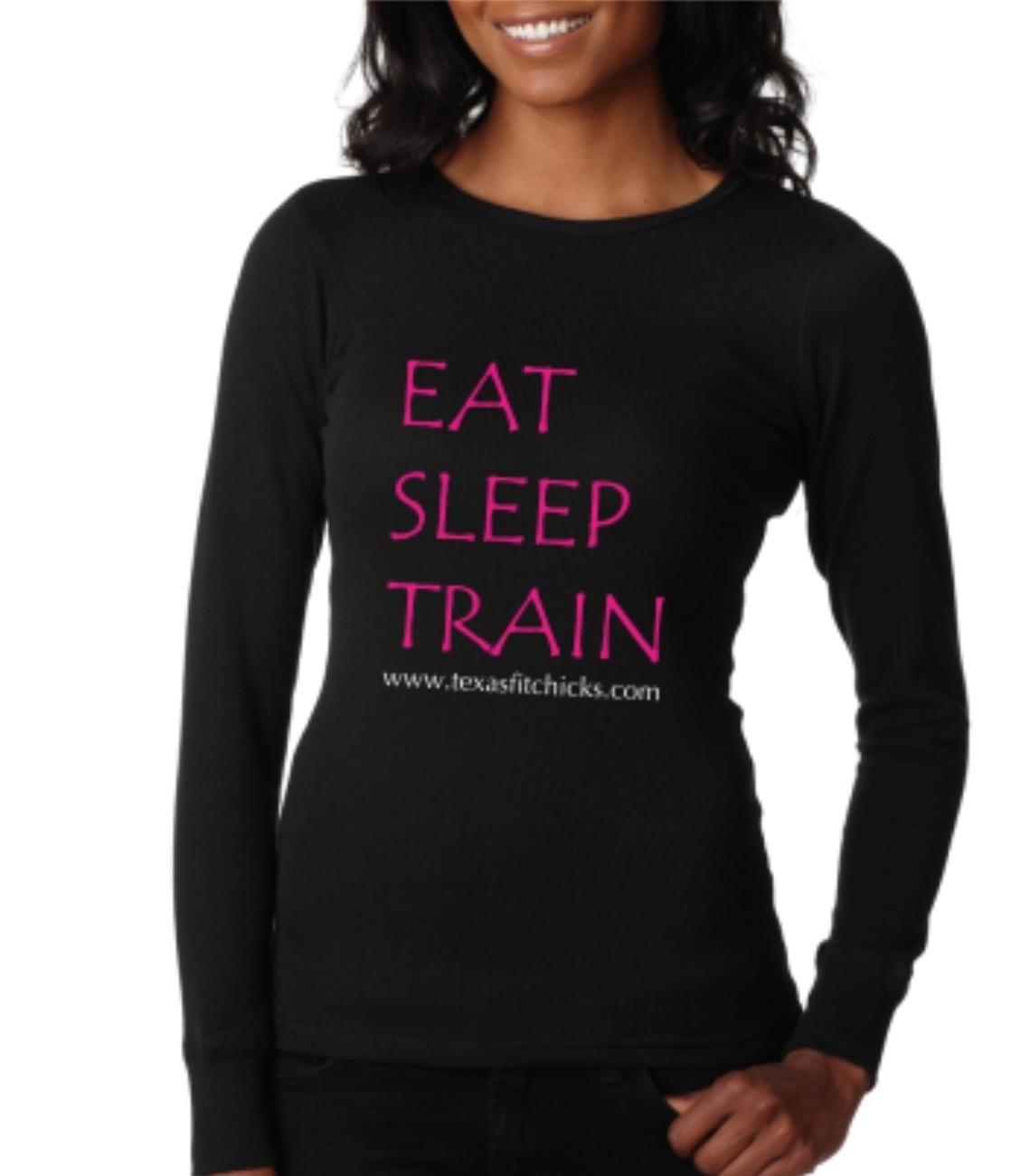 Eat Sleep Train Long Sleeved Scoop