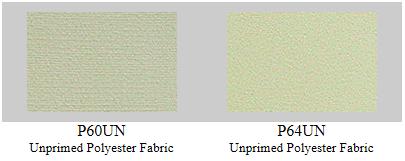 "P60UN: 60"" Polyester art fabric, no priming- 6 yard roll"