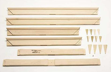 60x72 UN-ASSEMBLED Heavy Duty Wood Keyed Stretcher (kit)