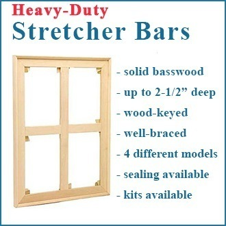 84x84 Heavy Duty Wood Keyed Stretcher ASSEMBLED or STRETCHED