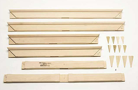 84x84 UN-ASSEMBLED Heavy Duty Wood Keyed Stretcher (kit)