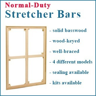 60x60 Normal Duty Wood Keyed Stretcher ASSEMBLED or STRETCHED