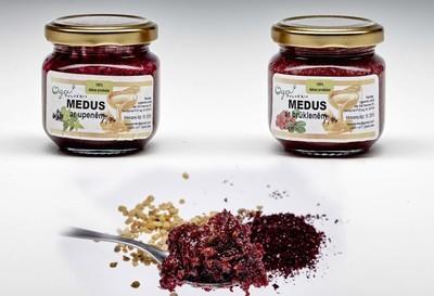 Medus ar ogu pulveri - Honey mix berry powder