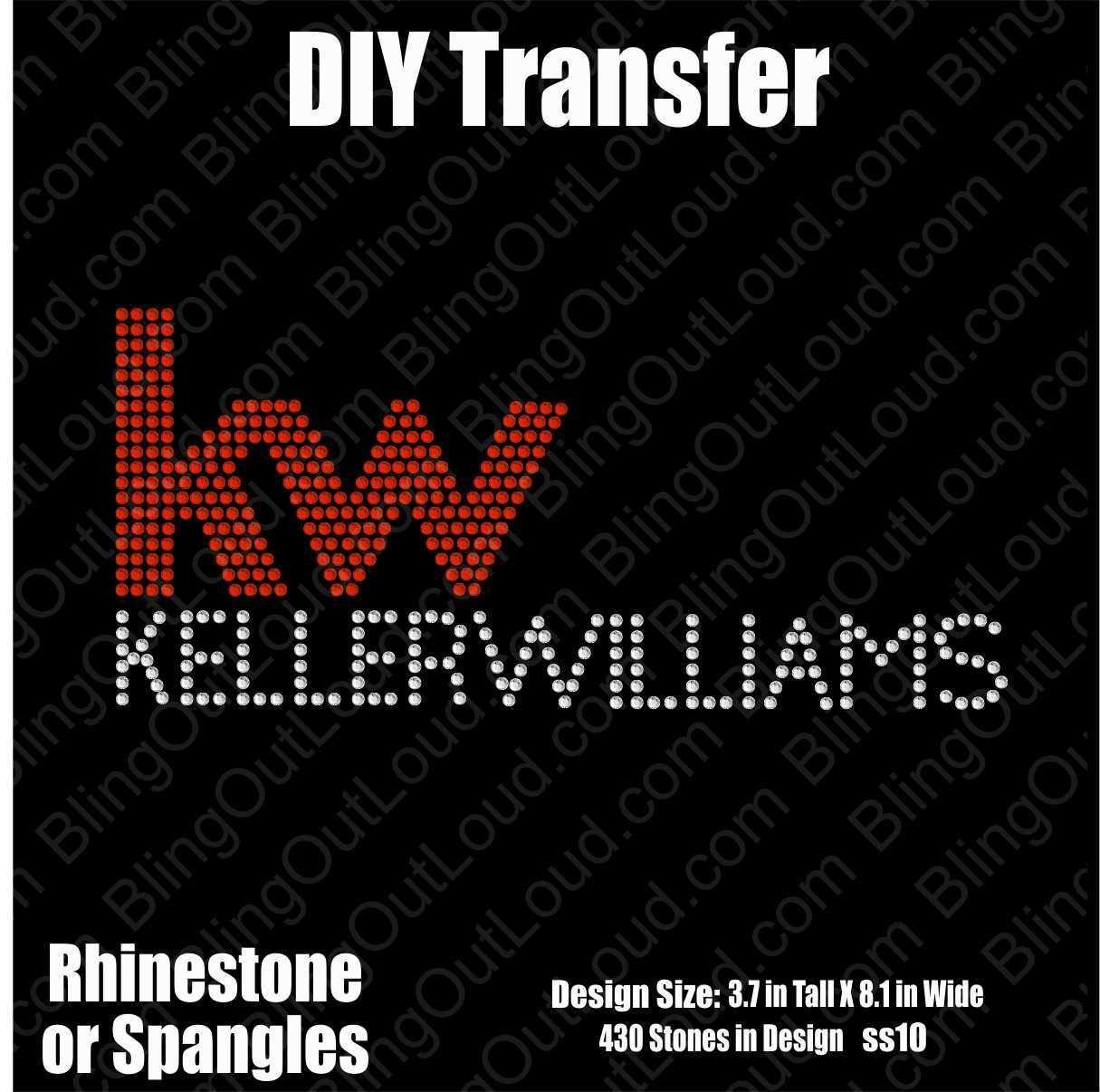 Keller Williams Realty Rhinestone Bling Realtor Logo Transfer