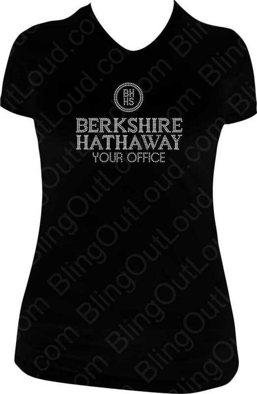 Berkshire Hathaway Custom Real Estate Rhinestone Bling Ladies T-Shirt