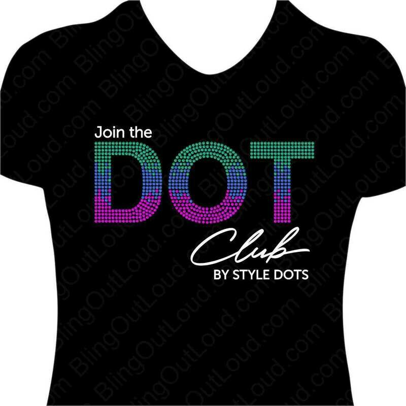 Join the DOT Club Style Dots Spangle Bling T-shirt