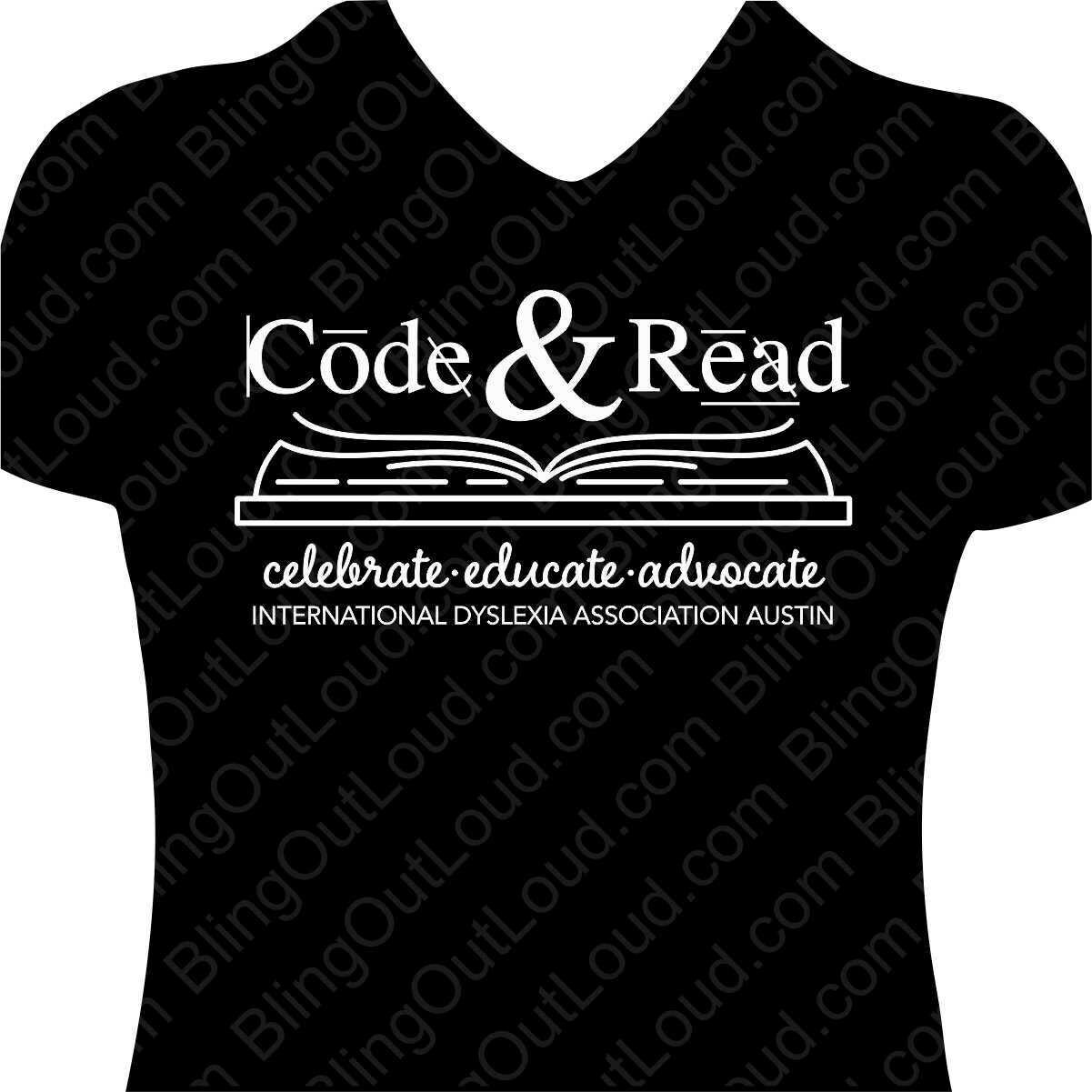 "IDA-Austin 2019 ""Code Read"" Ladies V Neck"