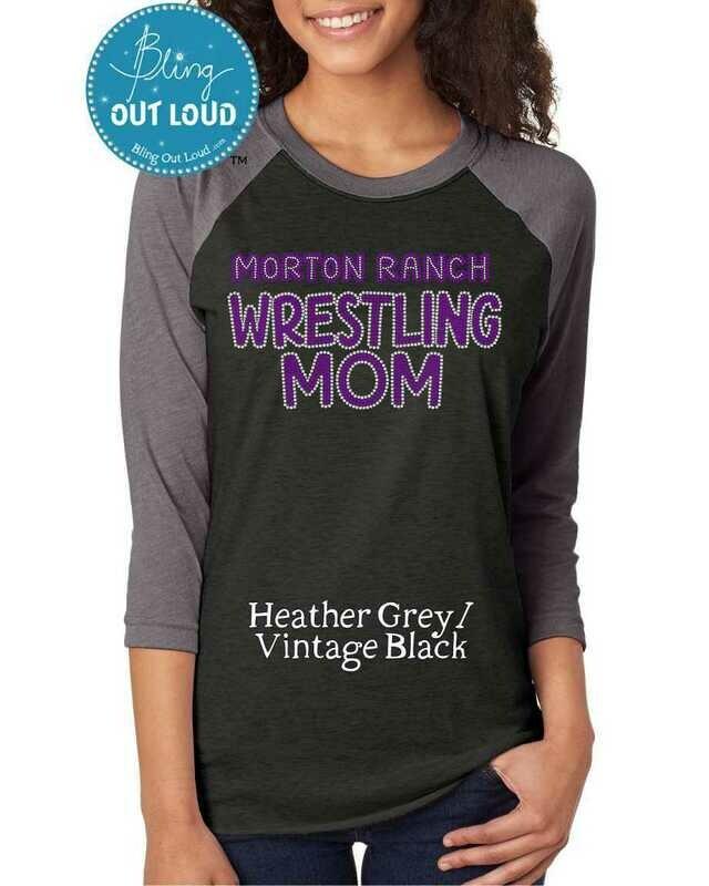 Morton Ranch Wrestling Mom Spangle Bling TShirt