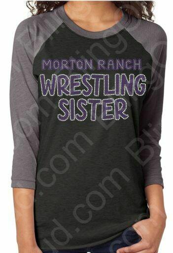 Morton Ranch Wrestling Sister Spangle Bling TShirt