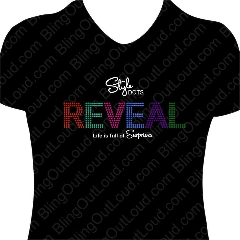 REVEAL Style Dots Spangle Bling T-shirt