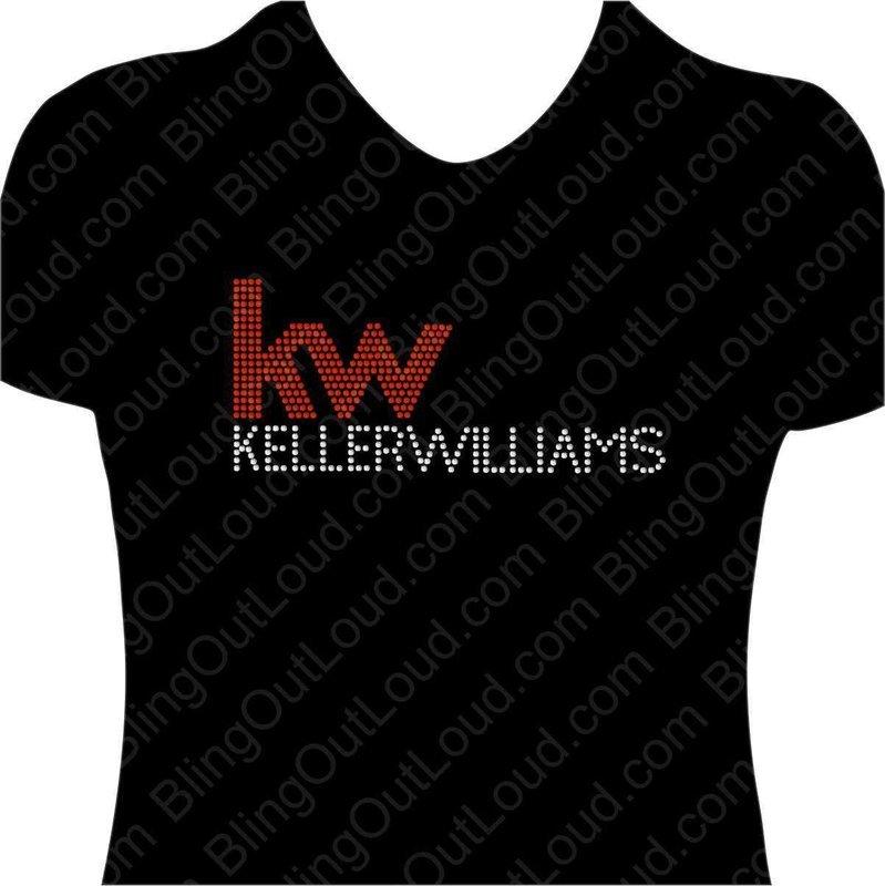 Keller Williams Realty Rhinestone Bling Realtor Logo Ladies Tee