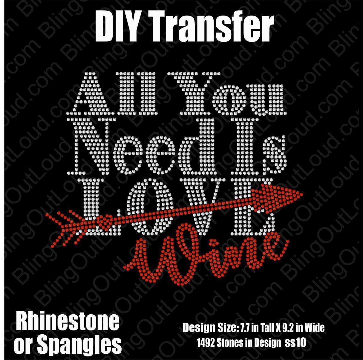 All You Need Is Love/Wine DIY Rhinestone Transfer AllYouNeedIsLove_DIY