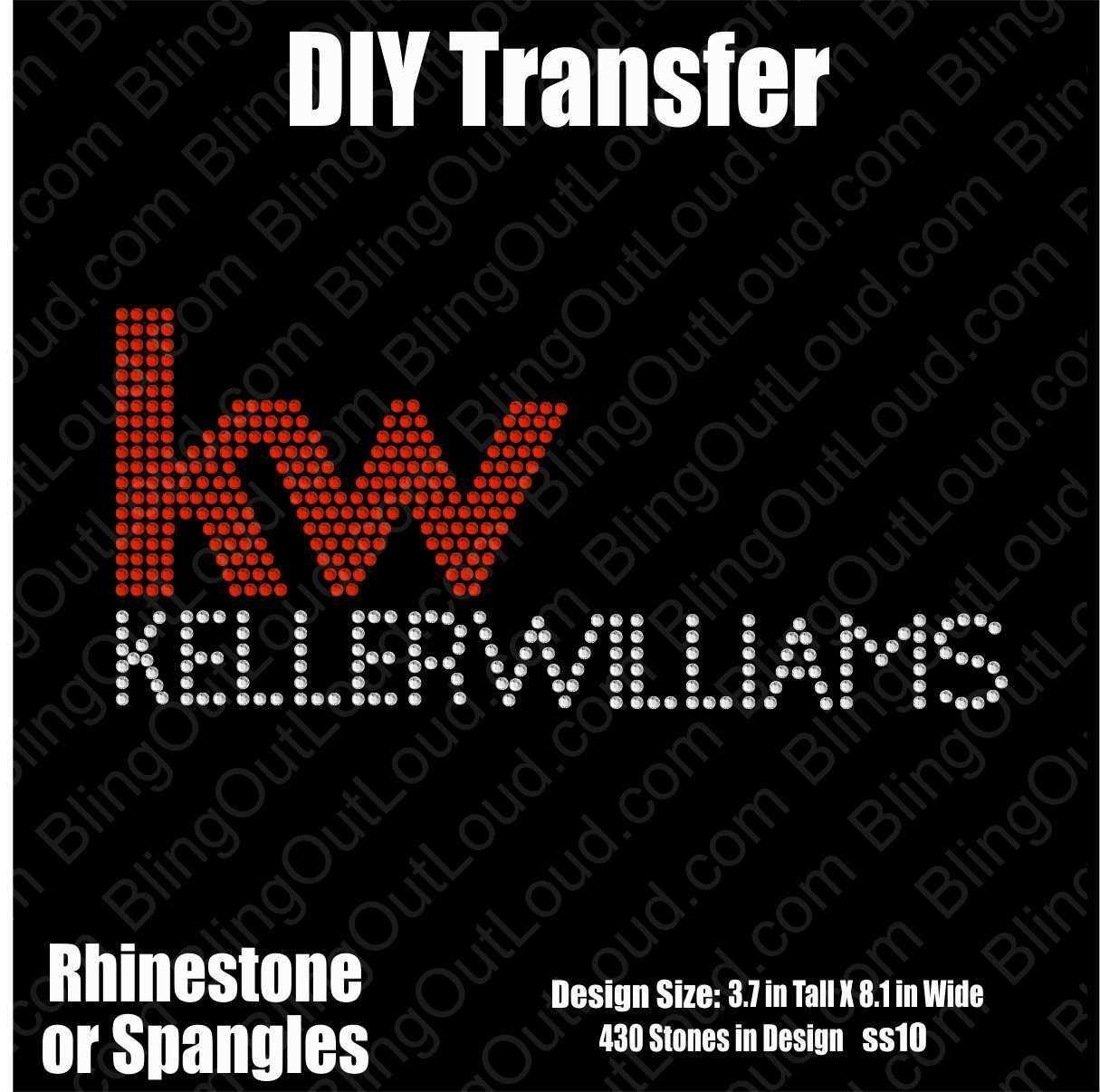 Keller Williams Realty DIY Rhinestone Transfer XferKWlogo