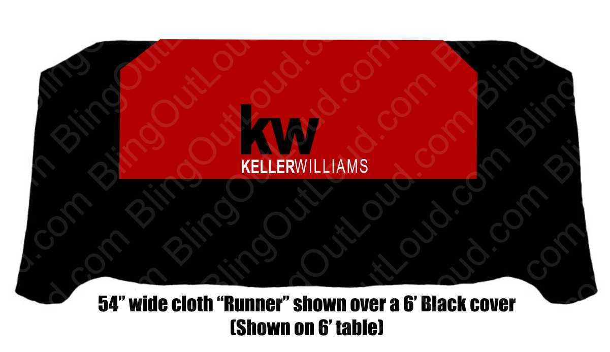 Keller Williams Red Square Table Cloth KWred54