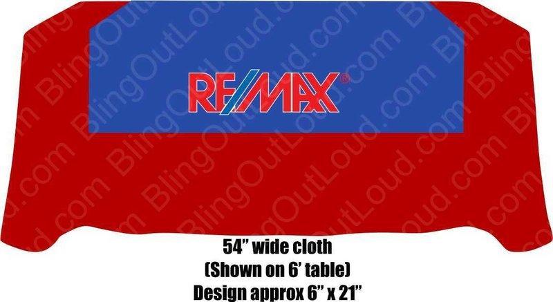 Re/Max Realtors Blue Square Table Cloth