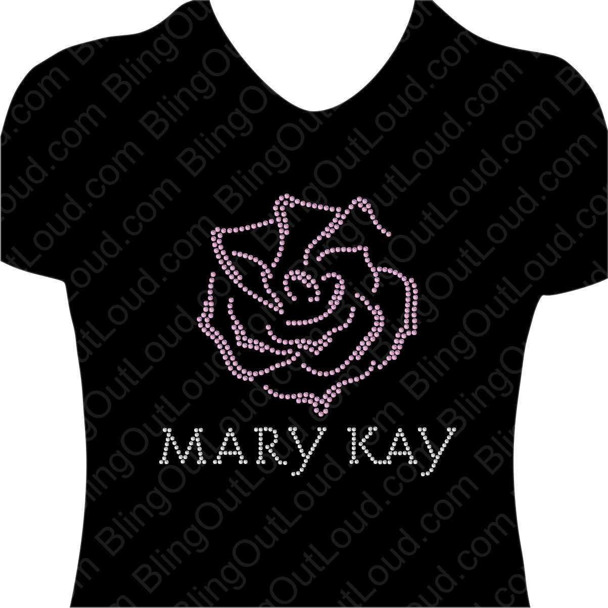 Mary Kay Rose Rhinestone Bling Design