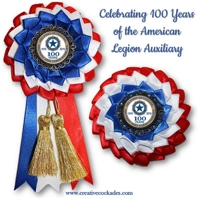 American Legion Auxiliary - 100 Years Cockade
