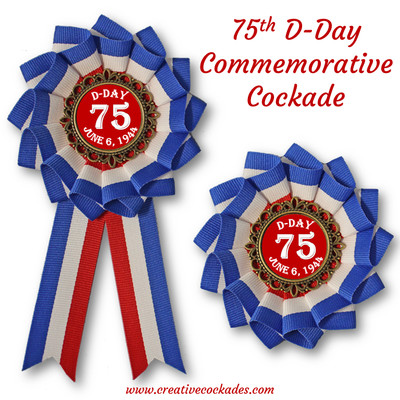75th D-Day Commemorative Cockade
