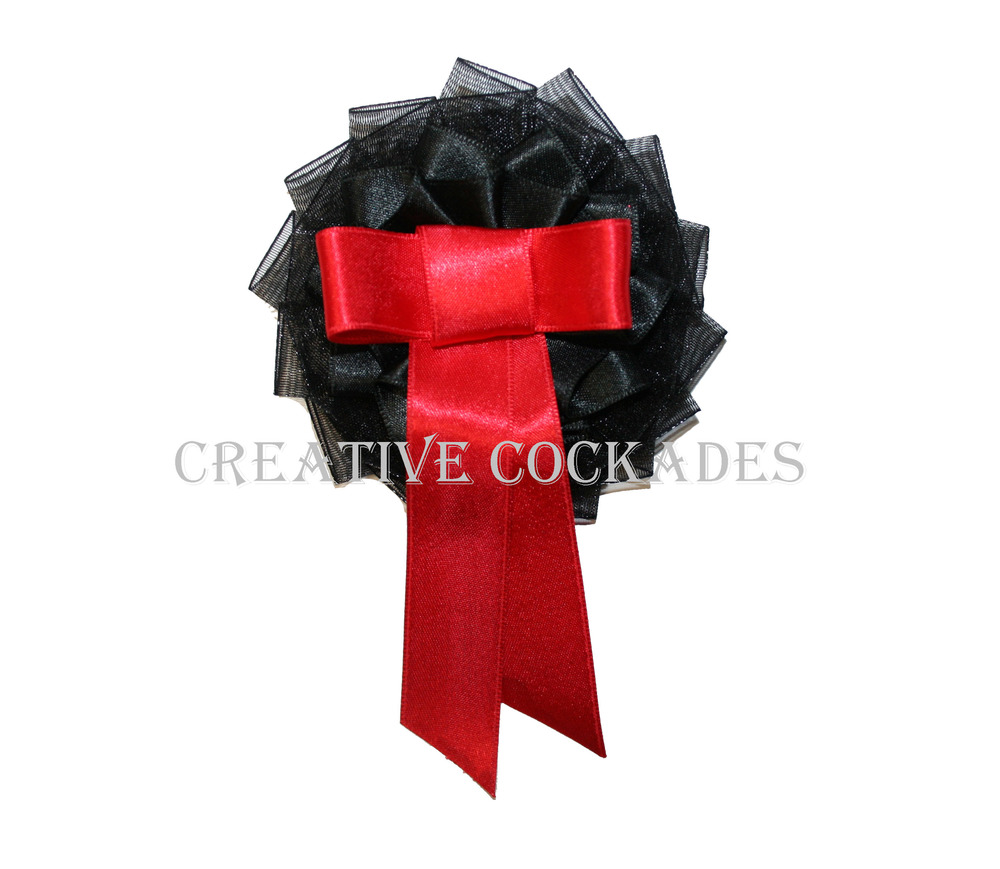 Black and Red Mourning Cockade