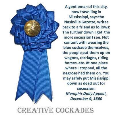 Mississippi Secession Cockade