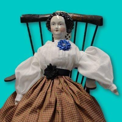 Blue Secession Doll Cockade