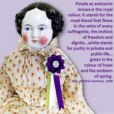 British Suffragette Doll Cockade